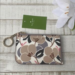 Nwt Kate spade Cameron breezy l-zip Card Holder